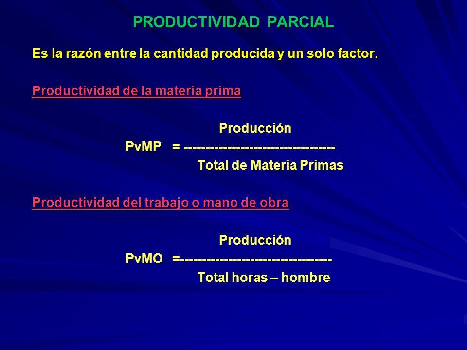 PRODUCTIVIDAD PARCIAL