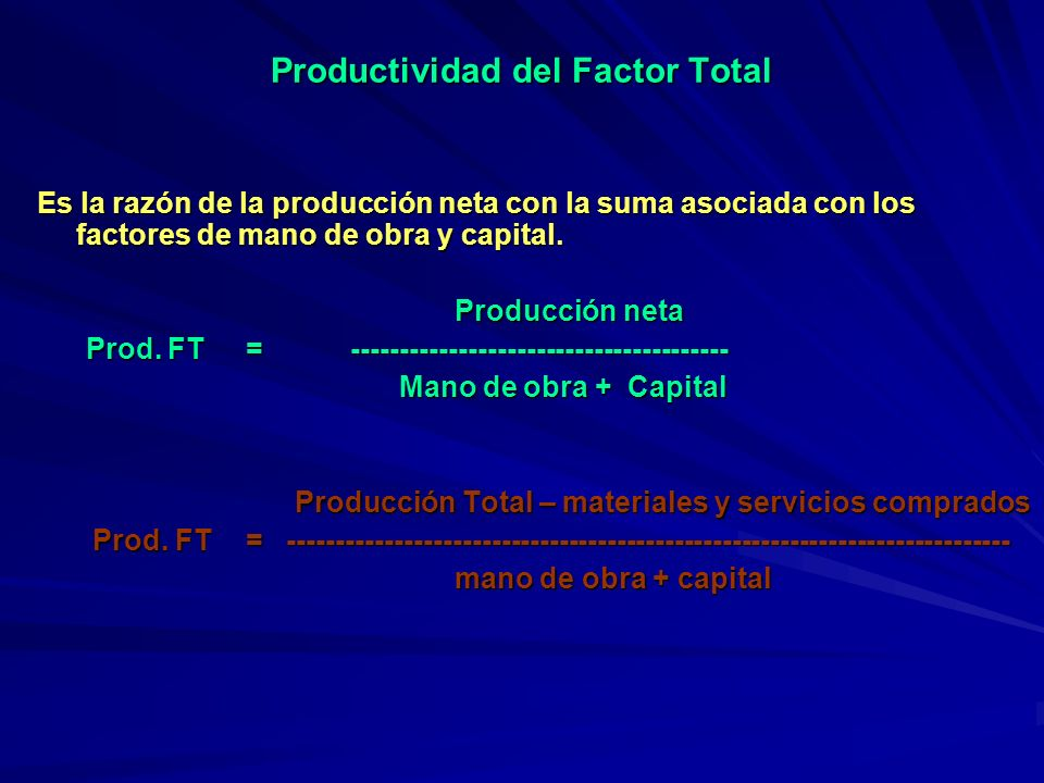 Productividad del Factor Total