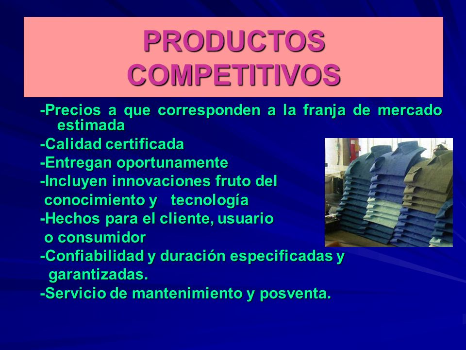 PRODUCTOS COMPETITIVOS