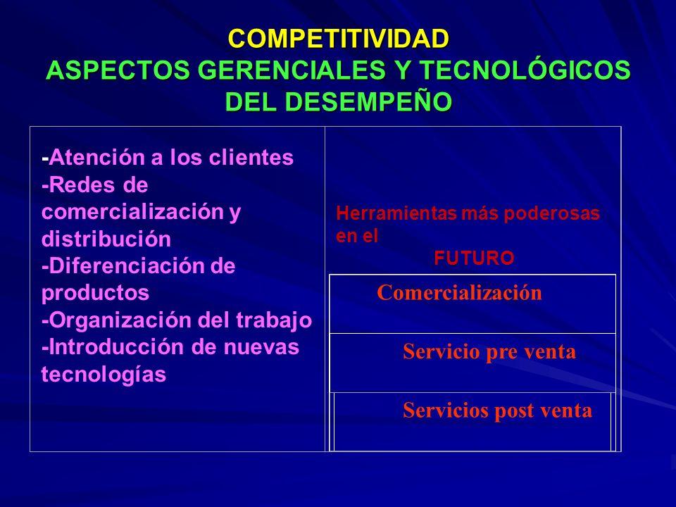 COMPETITIVIDAD ASPECTOS GERENCIALES Y TECNOLÓGICOS DEL DESEMPEÑO