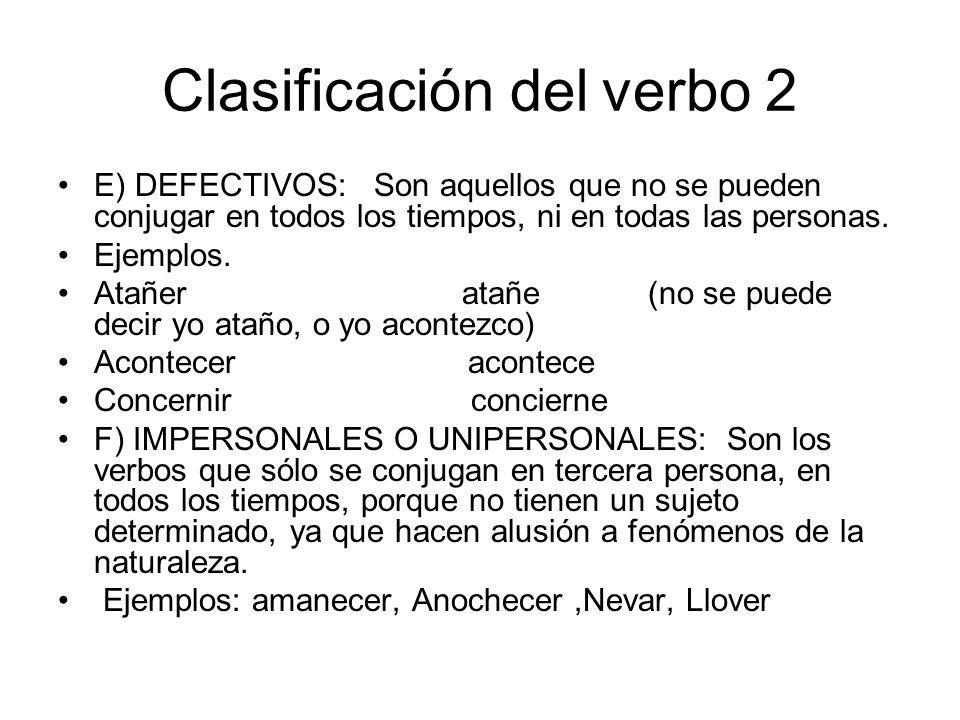 Clasificación del verbo 2