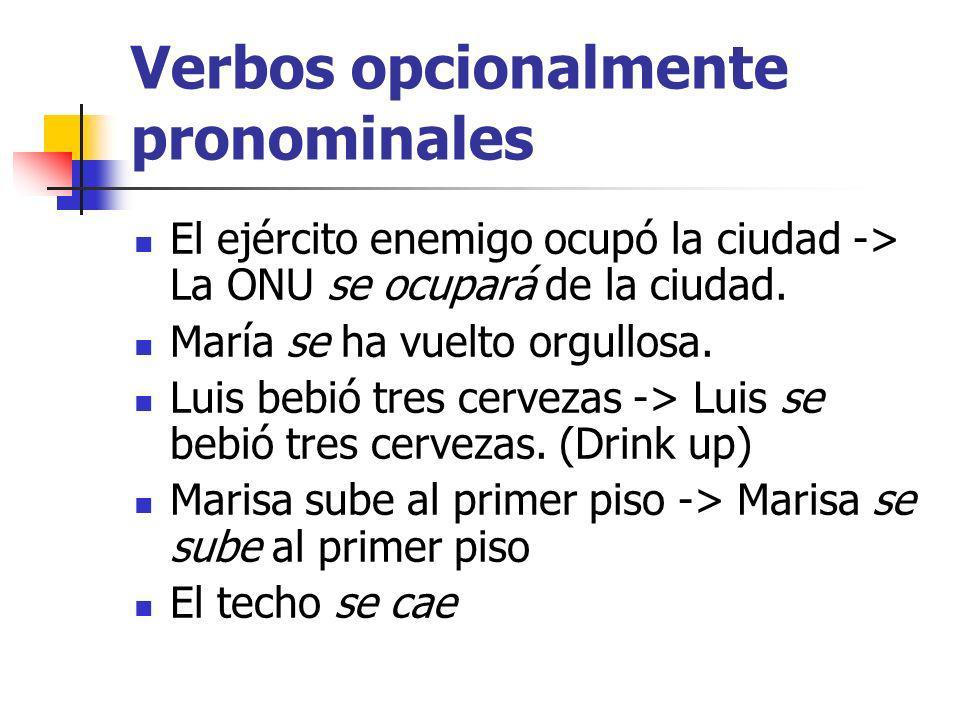 Verbos opcionalmente pronominales