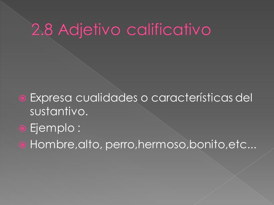 2.8 Adjetivo calificativo