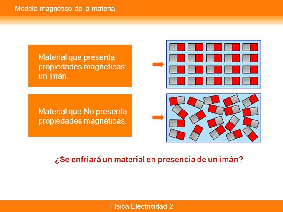 propiedades magnéticas: un imán.