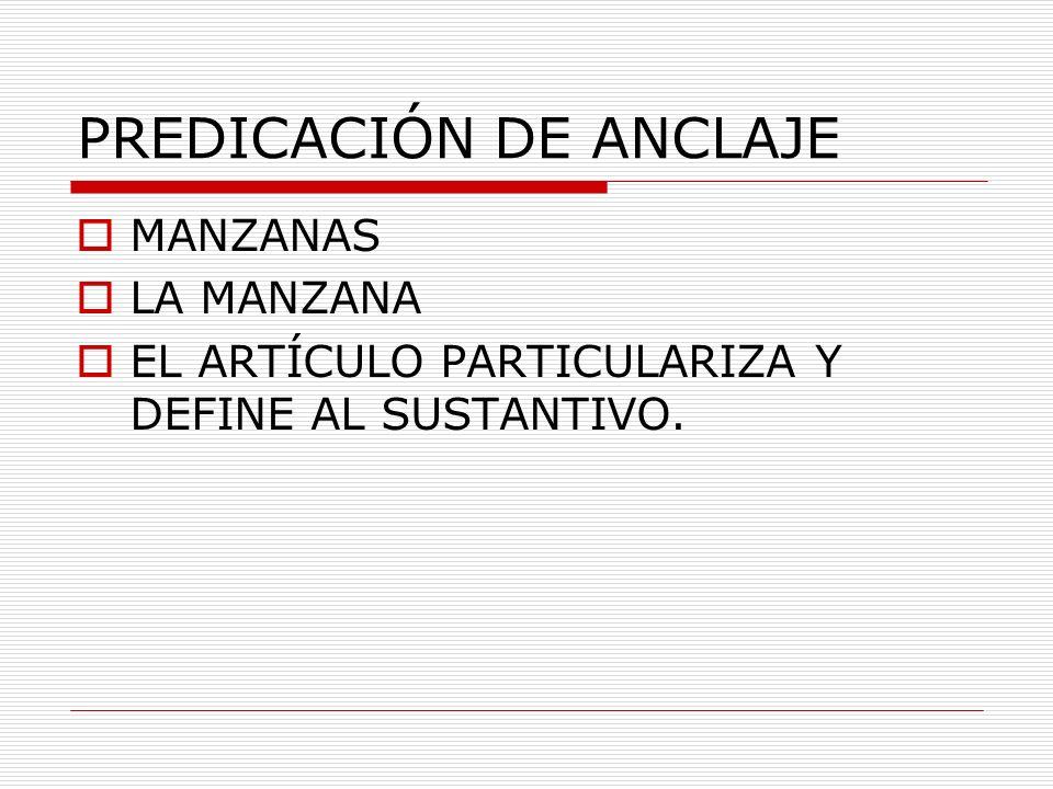 PREDICACIÓN DE ANCLAJE