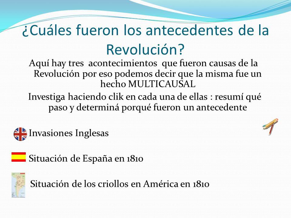 ¿Cuáles fueron los antecedentes de la Revolución