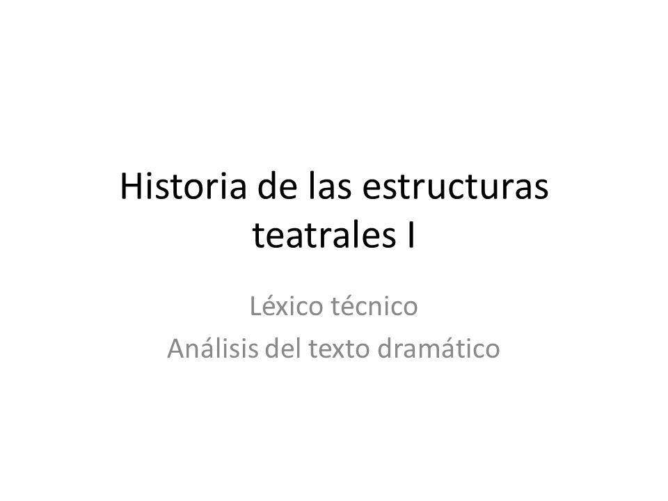 Historia de las estructuras teatrales I