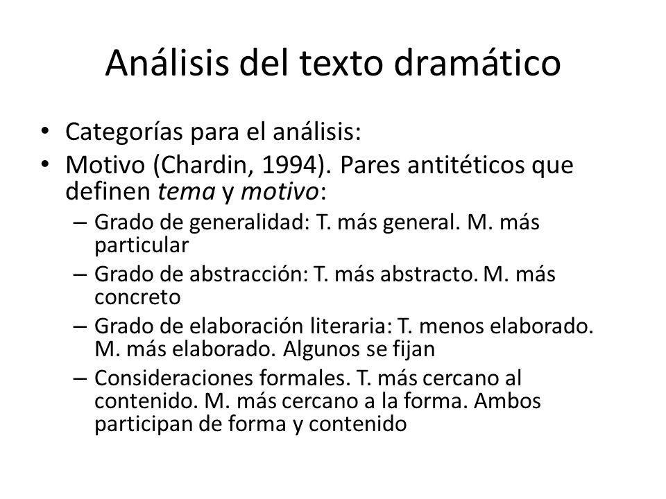 Análisis del texto dramático
