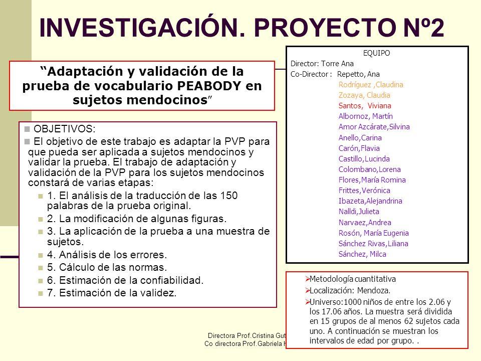 INVESTIGACIÓN. PROYECTO Nº2