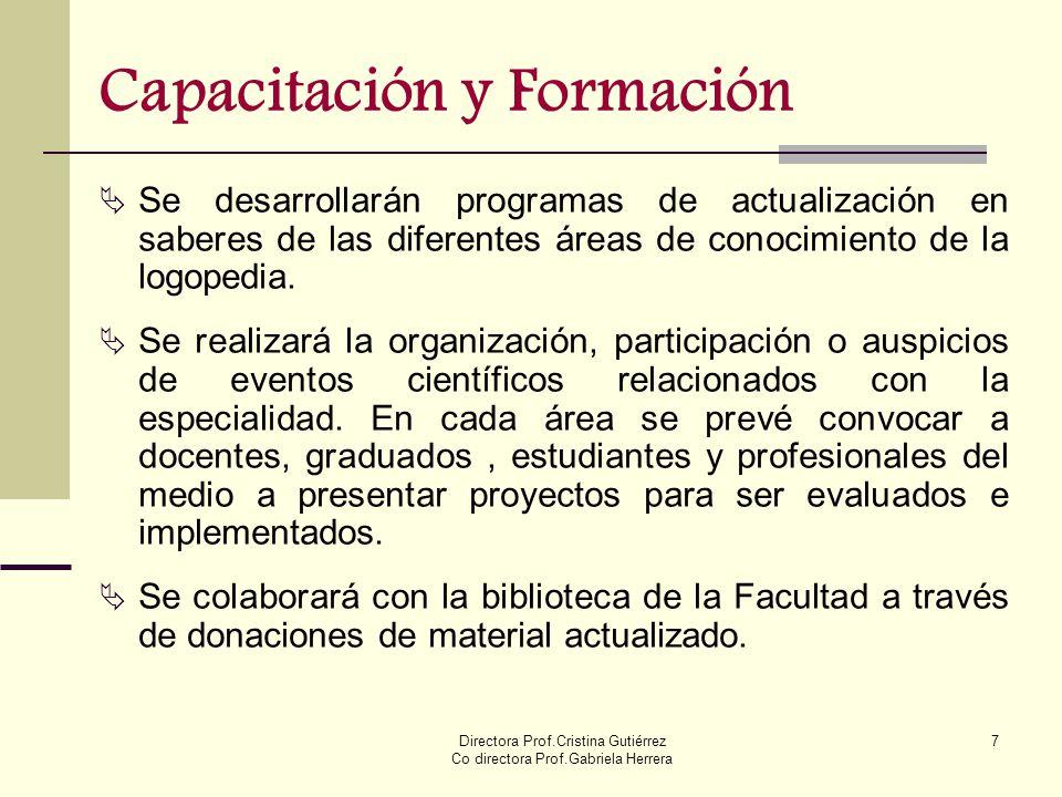 Capacitación y Formación