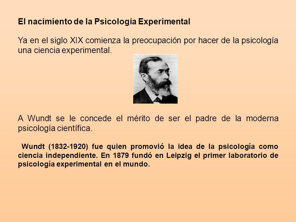 El nacimiento de la Psicología Experimental
