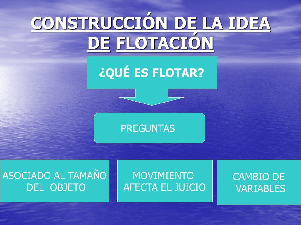 CONSTRUCCIÓN DE LA IDEA DE FLOTACIÓN
