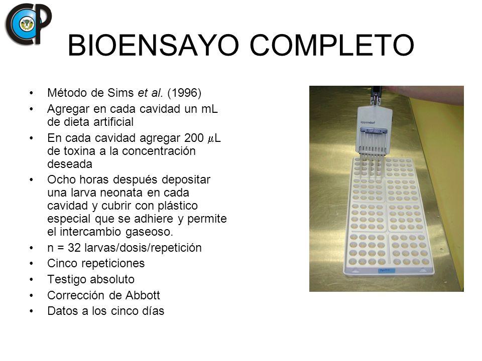 BIOENSAYO COMPLETO Método de Sims et al. (1996)