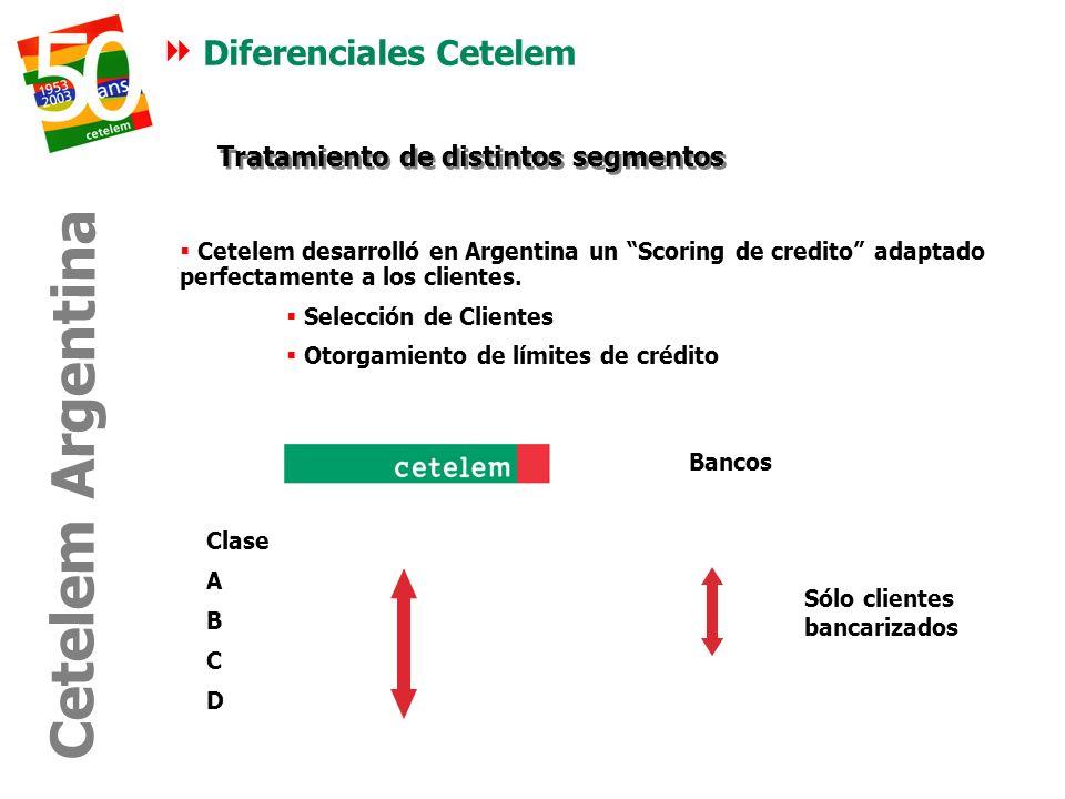 Diferenciales Cetelem Tratamiento de distintos segmentos