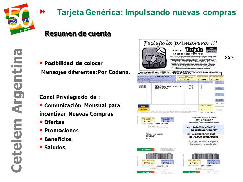 Cetelem Argentina Tarjeta Genérica: Impulsando nuevas compras