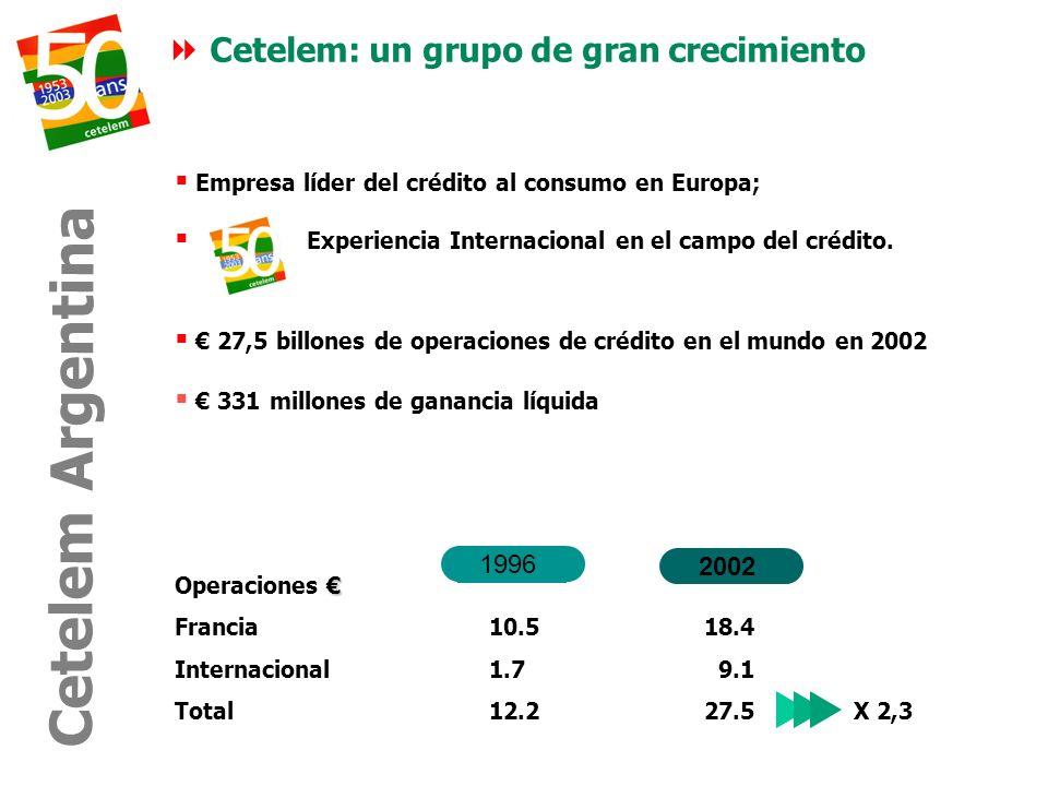 Cetelem Argentina Cetelem: un grupo de gran crecimiento 1996 2002