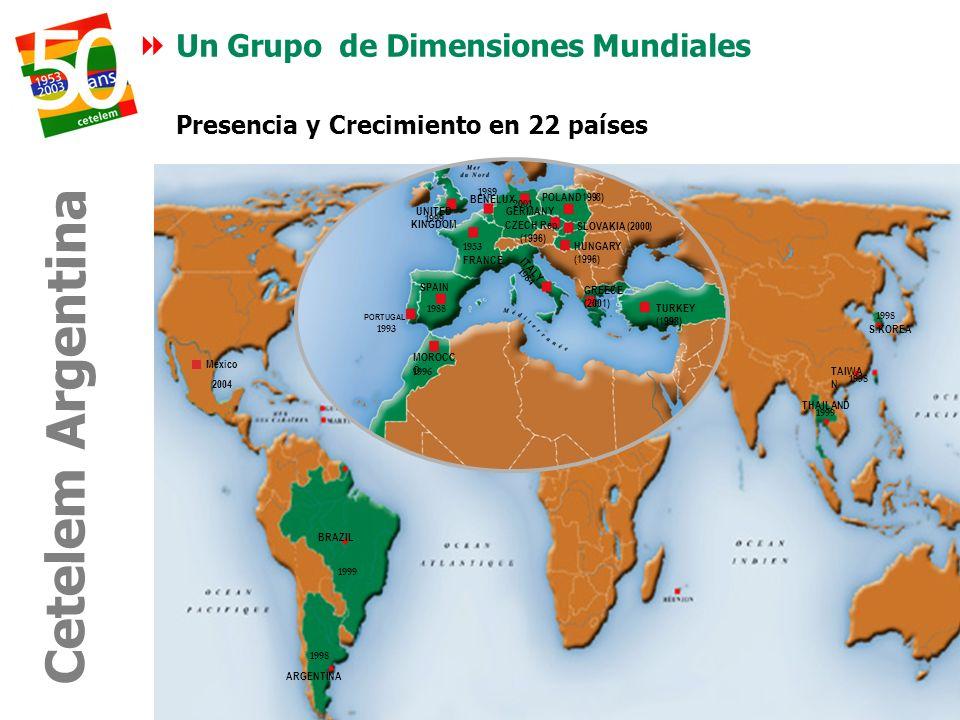 Presencia y Crecimiento en 22 países
