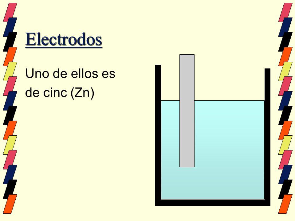 Electrodos Uno de ellos es de cinc (Zn)