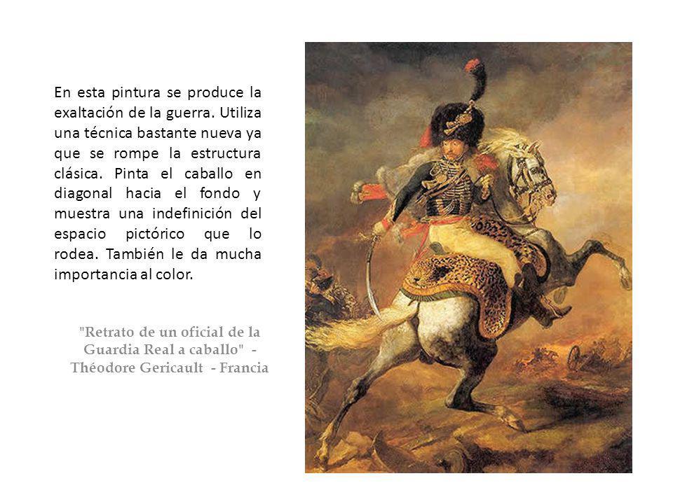 En esta pintura se produce la exaltación de la guerra