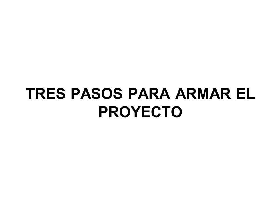 TRES PASOS PARA ARMAR EL PROYECTO