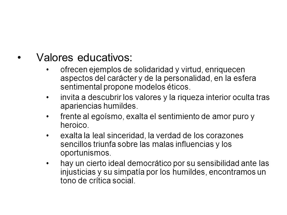 Valores educativos: