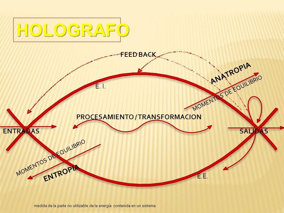 HOLOGRAFO ANATROPIA ENTROPIA FEED BACK E. I.