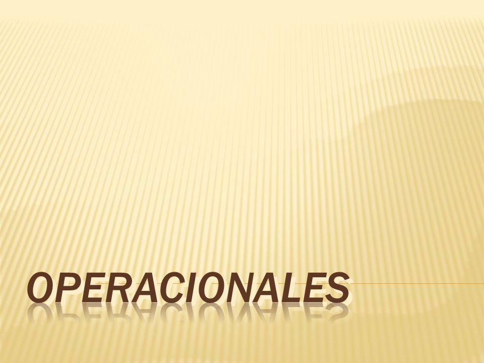 OPERACIONALES