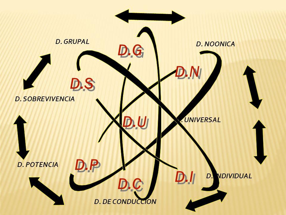 D.G D.N D.S D.U D.P D.I D.C D. GRUPAL D. NOONICA D. SOBREVIVENCIA