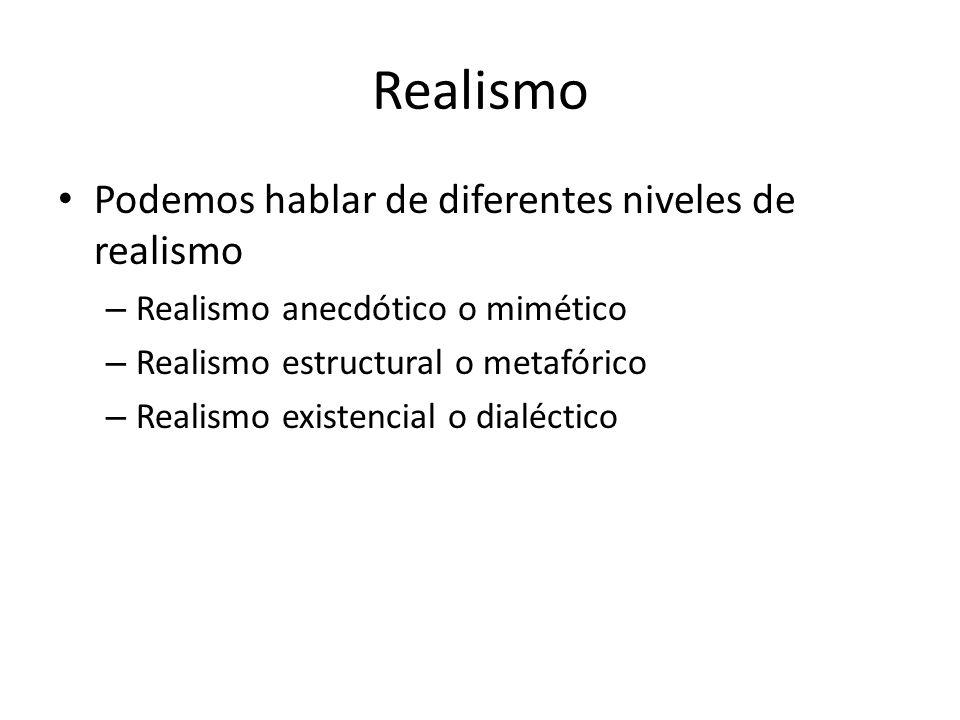 Realismo Podemos hablar de diferentes niveles de realismo
