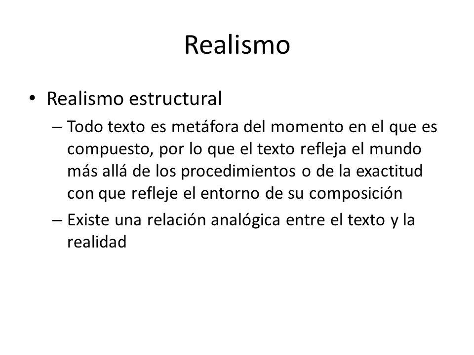 Realismo Realismo estructural