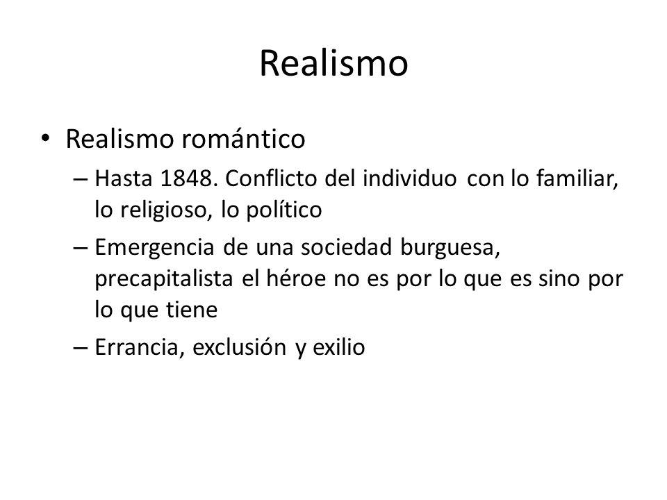 Realismo Realismo romántico