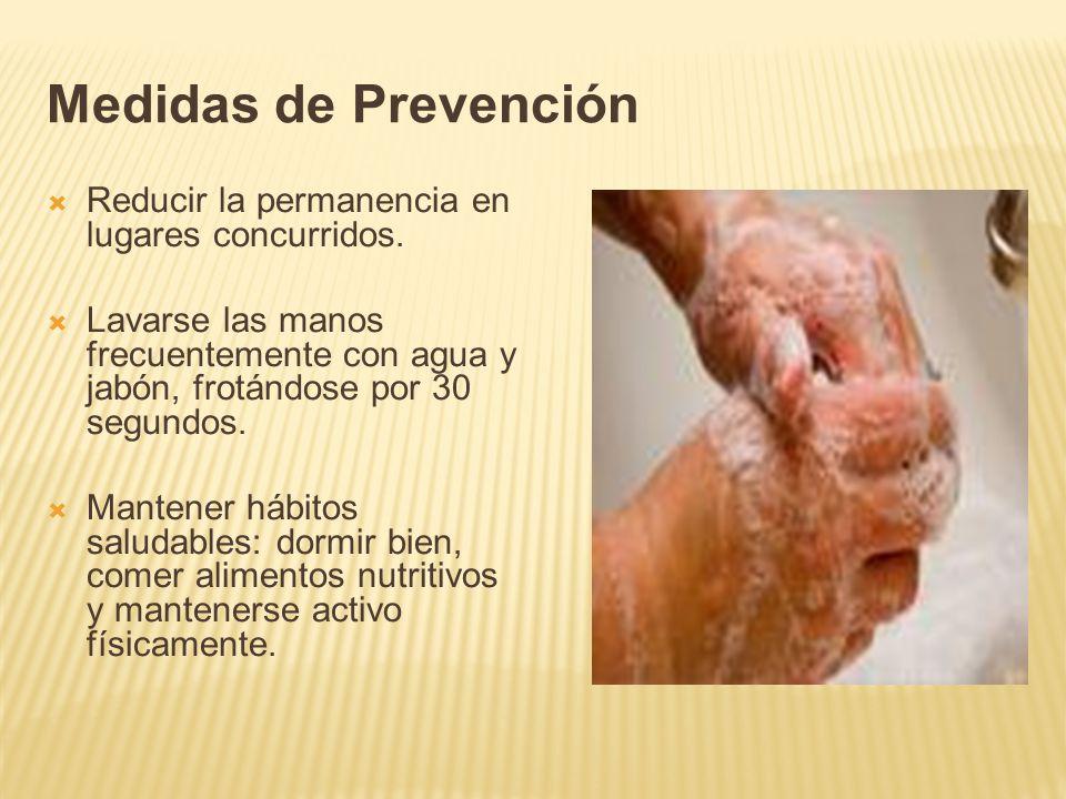 Medidas de Prevención Reducir la permanencia en lugares concurridos.