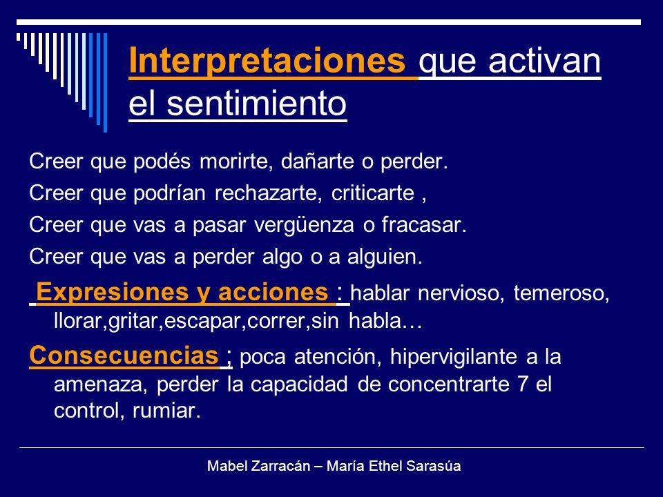 Interpretaciones que activan el sentimiento