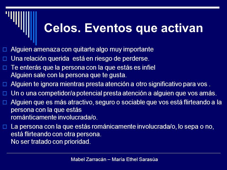 Celos. Eventos que activan