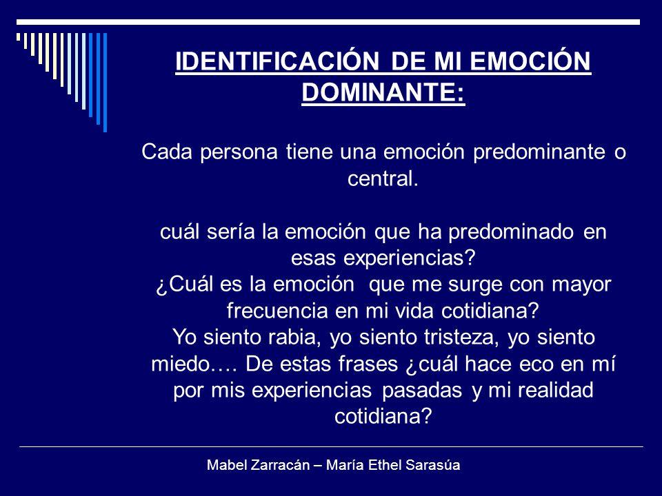 IDENTIFICACIÓN DE MI EMOCIÓN DOMINANTE: