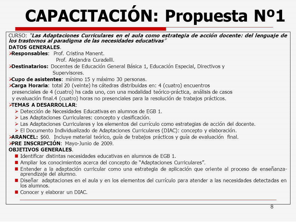 CAPACITACIÓN: Propuesta Nº1