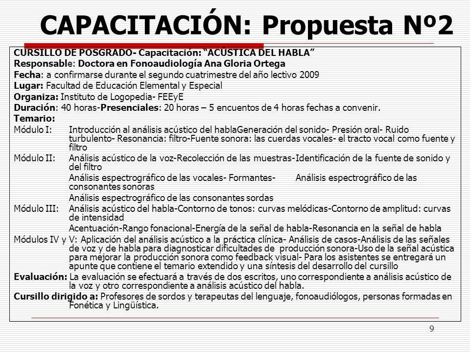 CAPACITACIÓN: Propuesta Nº2