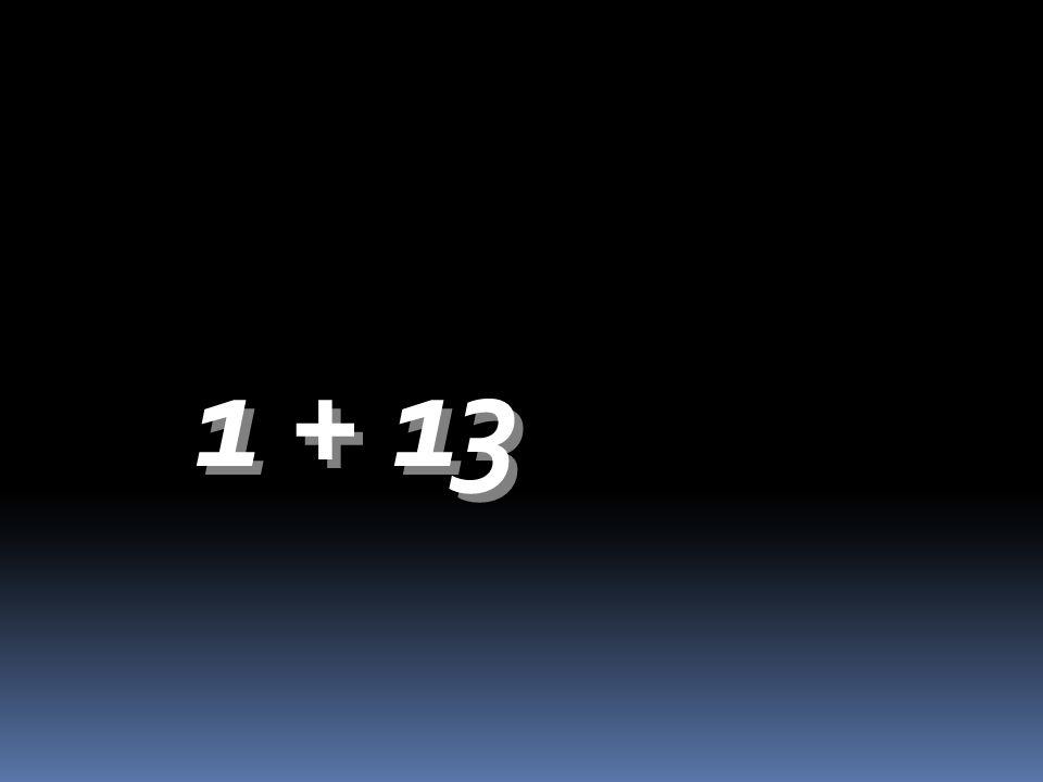 1 + 13