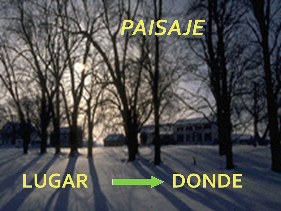 PAISAJE LUGAR DONDE
