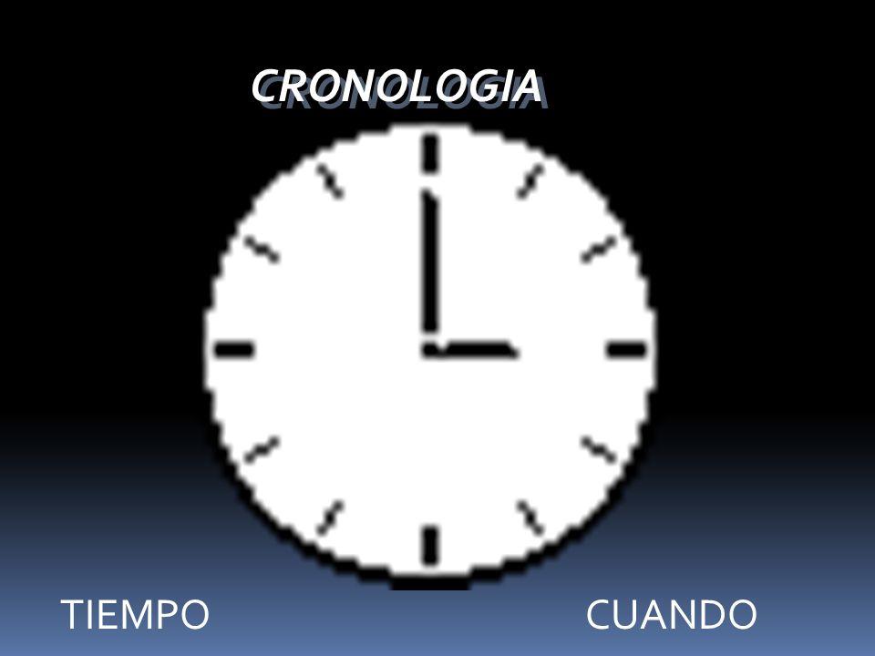 CRONOLOGIA TIEMPO CUANDO