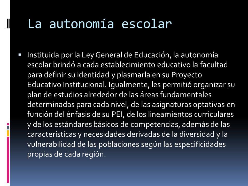 La autonomía escolar
