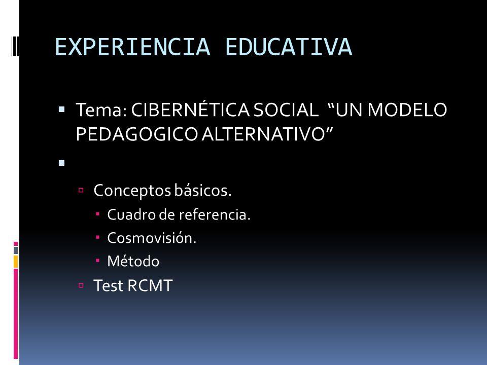 EXPERIENCIA EDUCATIVA