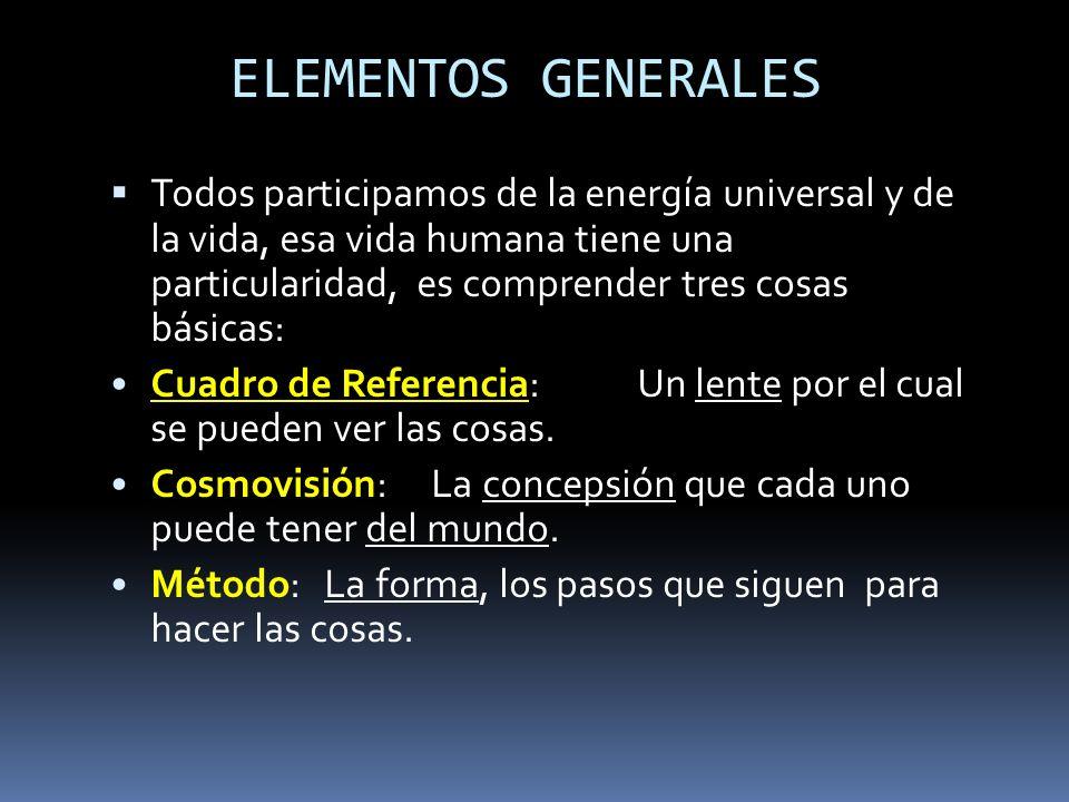 ELEMENTOS GENERALES