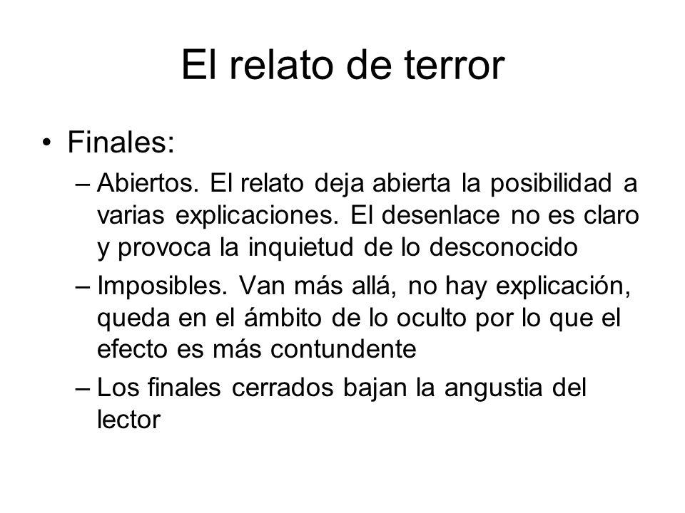 El relato de terror Finales: