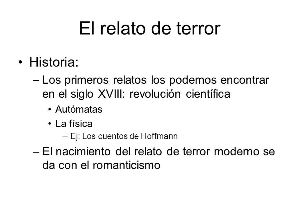 El relato de terror Historia:
