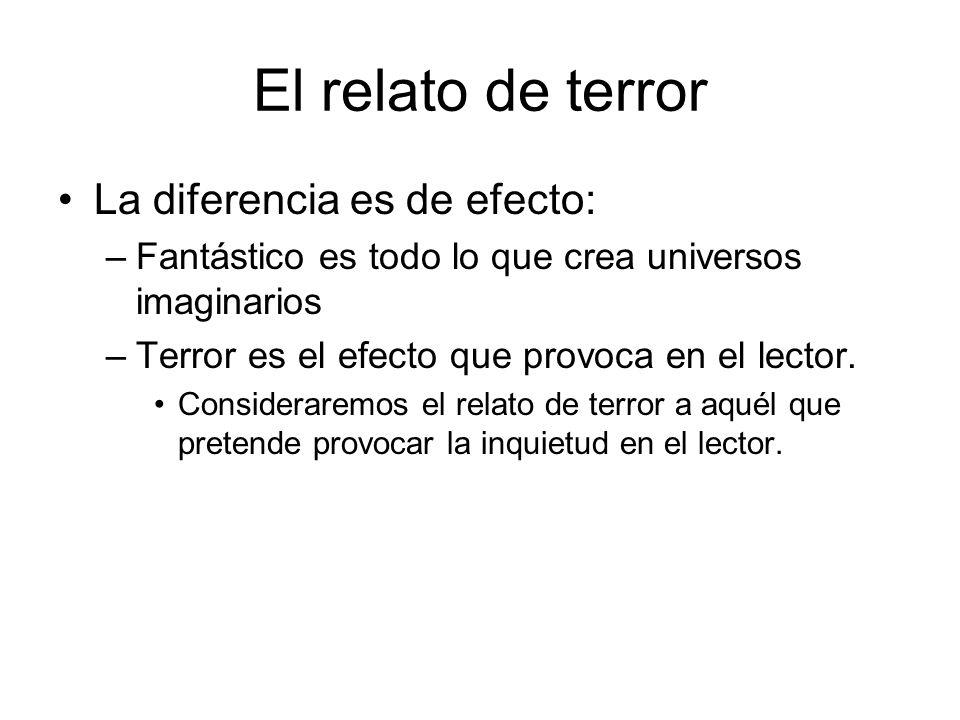 El relato de terror La diferencia es de efecto:
