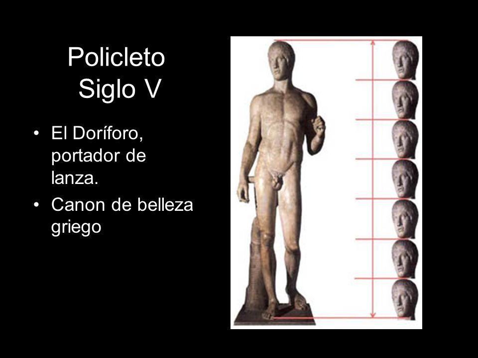 Policleto Siglo V El Doríforo, portador de lanza.