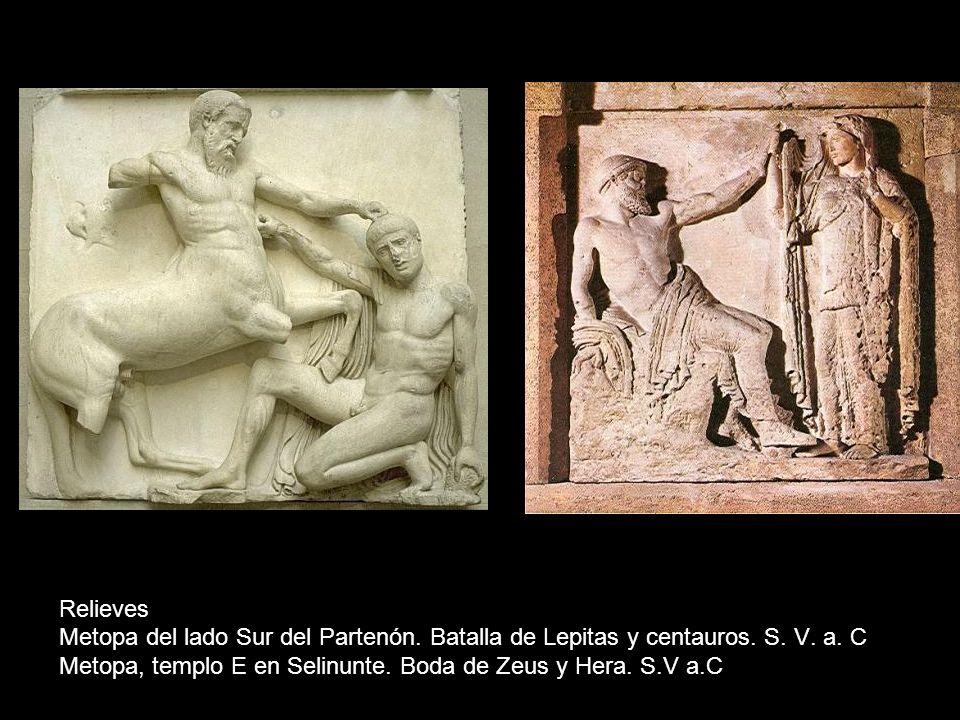 Relieves Metopa del lado Sur del Partenón. Batalla de Lepitas y centauros.