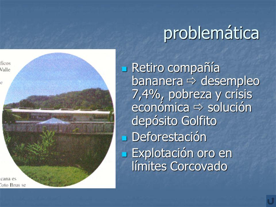 problemáticaRetiro compañía bananera  desempleo 7,4%, pobreza y crisis económica  solución depósito Golfito.