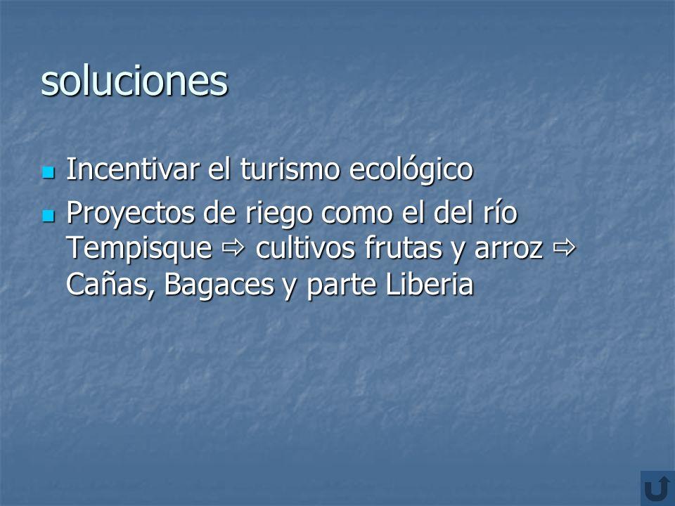 soluciones Incentivar el turismo ecológico